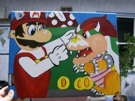 Mario and Bowser by YoAdrienne