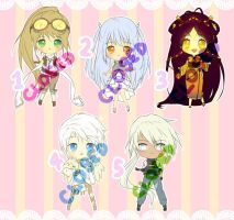 $7 Adoptables - Set 9 CLOSED by plurain