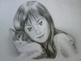 Ro and her cat by Dea-Art