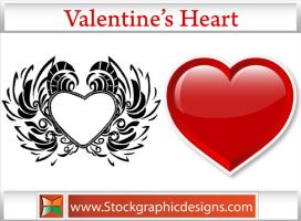 Valentines Heart Vector by Stockgraphicdesigns