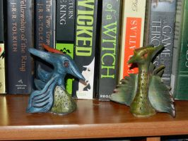 blue and green dragon 2 by dottypurrs