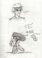 More Son of Neptune Sketches by kckat