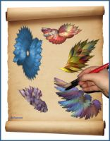 Feather Painting by Rhiannon104