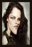 Kristen Stewart caricature by Jeff Stahl by JeffStahl