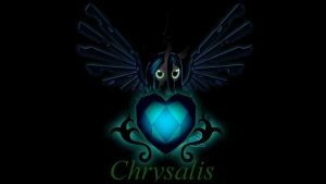 Wallpaper Chrysalis with crystal heart by Barrfind