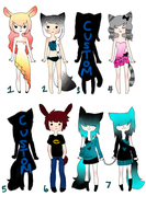 Adopts set 1 (OPEN) by Lovely-Watson