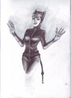 Catwoman sketch by Nghtmaresindrome