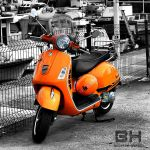 The Orange Vespa by borahanci