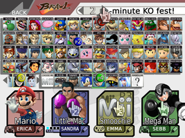 Super Smash Bros 4 Full Roster by nakashimariku