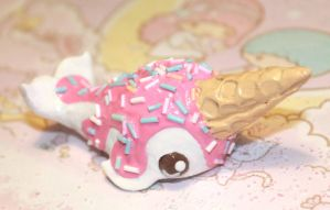 Ice cream Narwhal with pastal sprinkles by SprinkleChick
