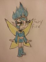 Wreck it Ralph OC redo Fairy fire by accailia118