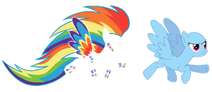 Rainbow Power Rainbow Dash - Base 13# by J-J-Bases