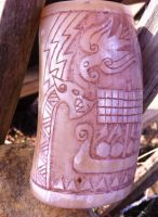 Viking age drinking horn cup side by Dewfooter