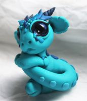 Bitty Baby Blue Dragon by BittyBiteyOnes