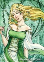 Emerald ACEO by MeredithDillman