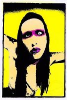 Marilyn Manson Warhol Style by zombis-cannibal