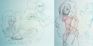 Team Girl Sketch Dump 0.1 by PinkPigtails