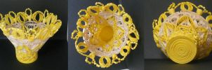 Quilling: Yellow Star Vase by staceysmile