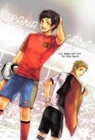 Spain VS German by scarlet-xx