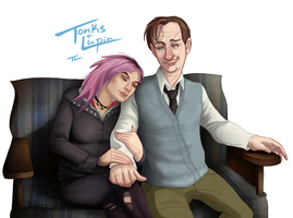 Lupin and Tonks by tree27