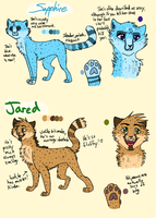 Sapphire and Jared Refs by GingerFlight