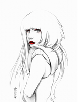 041114: Lady Gaga Portrait Study by MuEnLi
