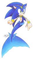 Sonic's new merhog form by sonicartist16