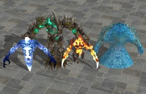'Heroes 7 beta' Elementals pack XPS ONLY!!! by lezisell