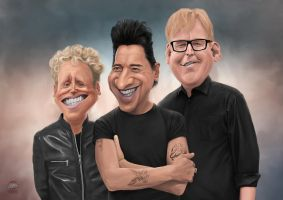 Depeche Mode Caricature by luebbi1981