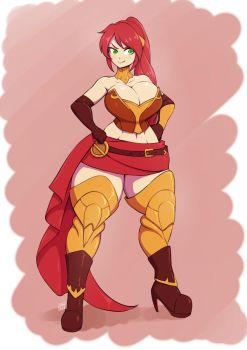 Commission - Thick Pyrrha by dragonmanX