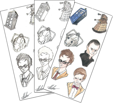 Doctor Who Stickers by hatoola13