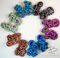 Tentacle Barrettes Galore! by TinfoilHalo