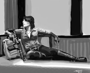 Ada Wong Masterofunlocking speed painting by ink5000