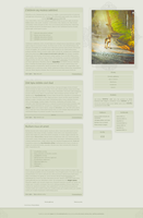 Blogspot template I will wait for you by stupid-owl