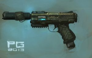Pistol concept by ProxyGreen