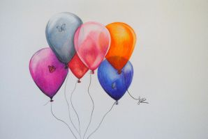 Balloons and butterflies by Jam1992