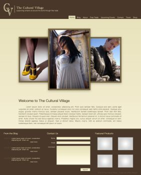 Cultural Village Mockup by mafromage