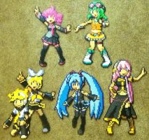 Perler Bead: Vocaloid by thewiredslain