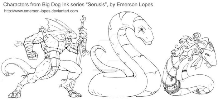 Serusis characters by Emerson-Lopes