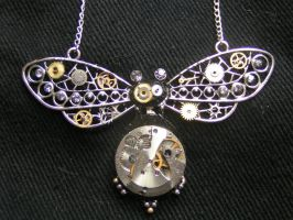 Steampunk Beetle Pendant by lollollol2
