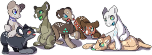 [GIFT] Pixeled evoloons by Ayinai