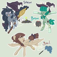Witch Ponies Auction :{CLOSED}: by Glitternaut