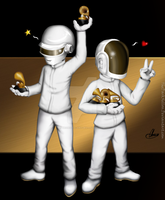 Congratulations, Daft Punk! Five Grammy's!!! by TheDarkXelloss