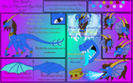 Collab with Naeda - Blue Spitfire Reference Sheet by DragonessBlue