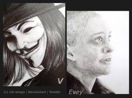 V for Vendetta (detail) by xiii-wings