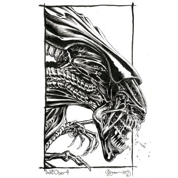 Inktober 04 Alien Queen by DanielGovar