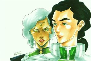 Kuvira and Suyin Beifong (The Legend of Korra) by BlepoZini
