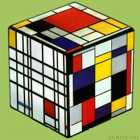 Mondrian's Cube by kaolincash