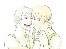 Hetalia:Gilbo and Lud by Neko6