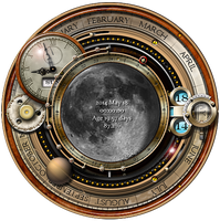 Steampunk Moon Phase Widget and Icons by yereverluvinuncleber
